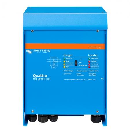 Menič/nabíjač Victron Energy Quattro 12V/3000VA/120A-50A/30A