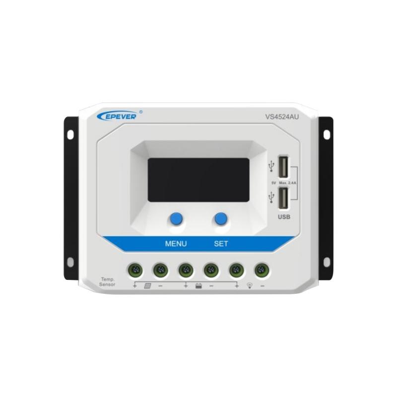 PWM solárny regulátor EPsolar 20A 12/24V s LCD displejom séria VS
