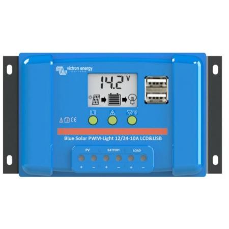 PWM solárny regulátor Victron Energy LCD & USB 5A