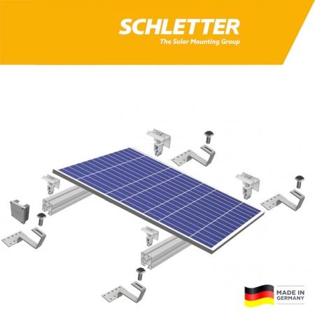 Nosná konštrukcia Schletter pre šikmú škridľovú strechu