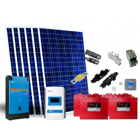 Ostrovný systém 290Wp,1,2kWh, 300W